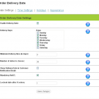 Admin - Delivery Date Settings