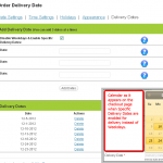 Admin - Specific Delivery Dates