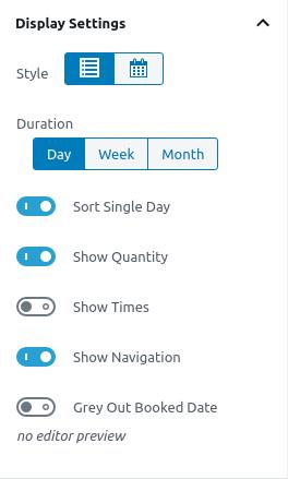 Options in Display Settings