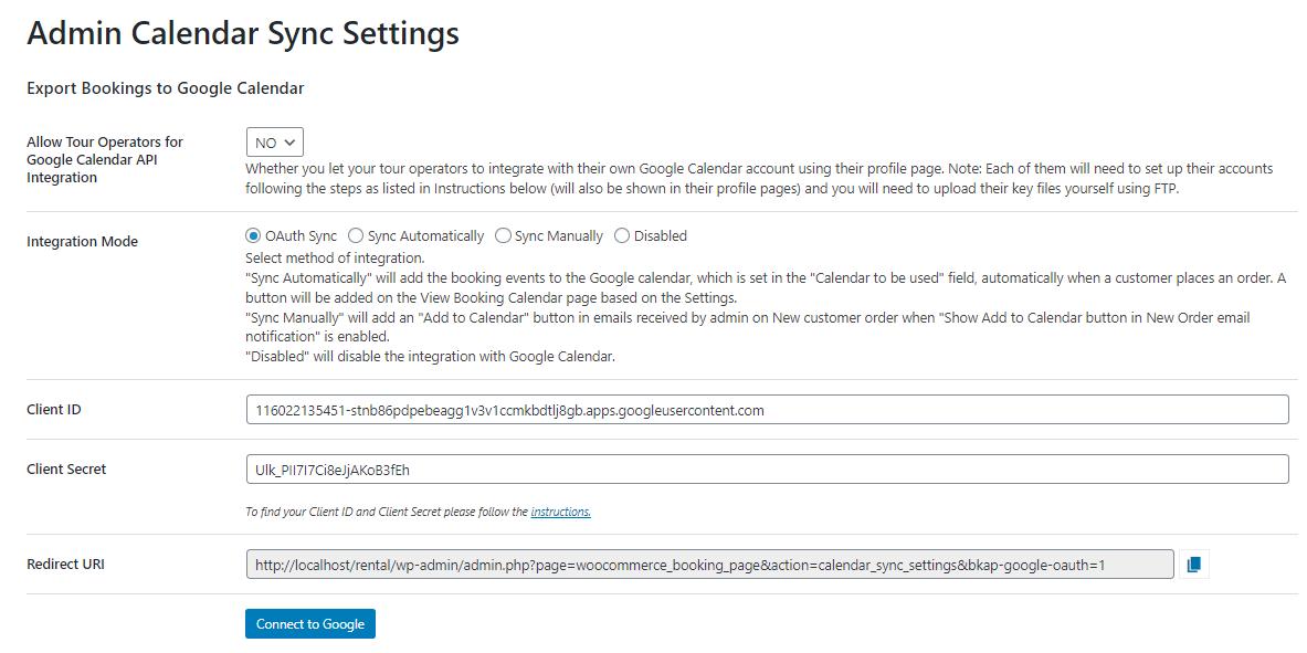 google calendar sync settings - google calendar sync via oauth