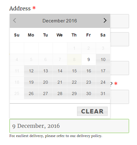 How shipping days work with same day delivery in WooCommerce - Checkout Page