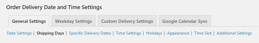 How shipping days work with same day delivery in WooCommerce - General Settings