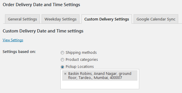 How To Set Different Delivery Settings For Different Pickup Locations From WooCommerce?