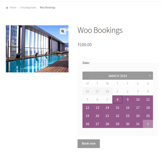 Frontend Booking Calendar setup with WooCommerce Bookings plugin